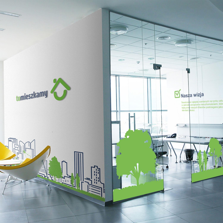 TuMieszkamy - rebranding biura w Warszawie