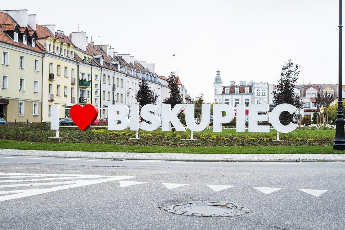 I love Biskupiec – litery 3D
